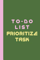 To Do List Prioritize Task PDF
