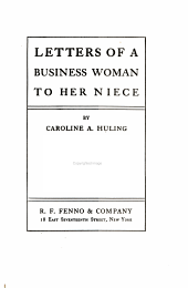 Letters of a Business Woman to Her Niece