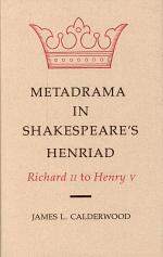 Metadrama in Shakespeare's Henriad