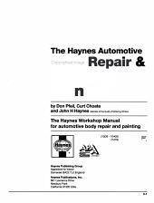 Automotive Body Repair   Painting Manual PDF