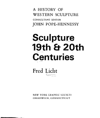 Sculpture  19th   20th Centuries PDF
