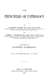The Principles of Pathology: Systematic pathology