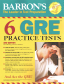 Barron s 6 GRE Practice Tests Book