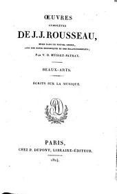 Œuvres complètes de J.J. Rousseau: Écrits sur la musique