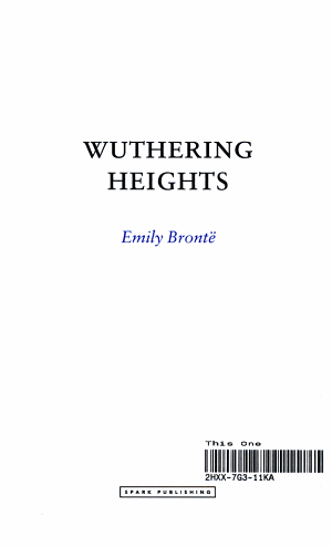 Wuthering Heights  Emily Bront   PDF