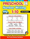 Preschool Number Writing 1   10  Left Handed Kids  Ages 3  PDF