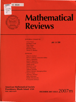 Mathematical Reviews PDF