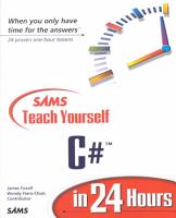 Sams Teach Yourself C  in 24 Hours PDF
