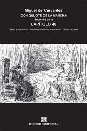 DON QUIJOTE DE LA MANCHA. CAPÍTULOS ESCOGIDOS. Segunda parte. Capítulo 48 (texto adaptado al castellano moderno por Antonio Gálvez Alcaide)