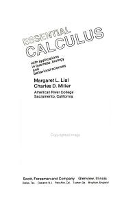 Essential Calculus Book