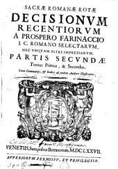 Sacrae Romanae Rotae Decisionum recentiorum