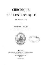 Chronique ecclésiastique de Jérusalem