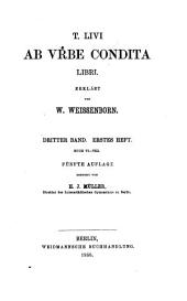 T. Livi Ab vrbe condita libri: Band 3