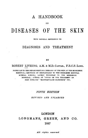 A Handbook on Diseases of the Skin