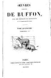Oeuvres completes de Buffon: avec des extraits de Daubenton et la classification de Cuvier, Volume4