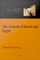The Genesis of Israel and Egypt