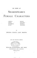 On Some of Shakespeare s Female Characters PDF