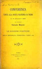 Le elezioni politiche nella Repubblica Fiorentina l'anno 1289