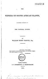 The genera of South African plants: arranged according to the natural system, Volume 1