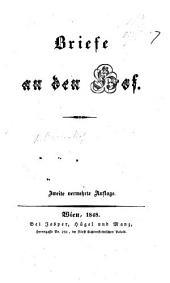 Brief an den Hof. Zweite vermehrte Auflage