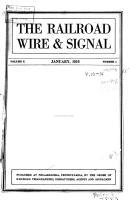 Railroad Wire and Signal PDF