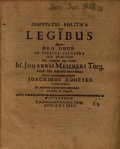 Disputatio Politica De Legibus