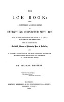 The ice book  a history of everything connected with ice  with recipes PDF