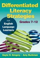 Differentiated Literacy Strategies for English Language Learners  Grades 7   12 PDF