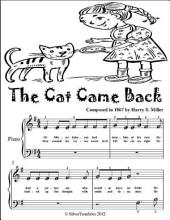 The Cat Came Back - Beginner Piano Sheet Music Tadpole Edition