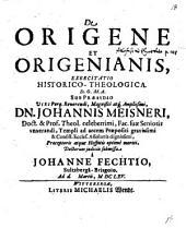 De Origene et Origenianis: exercitatio historico-theologica