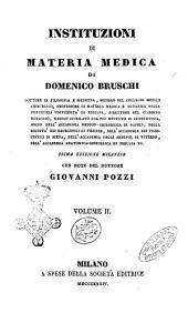 Instituzioni di materia medica di Domenico Bruschi: Volume 2