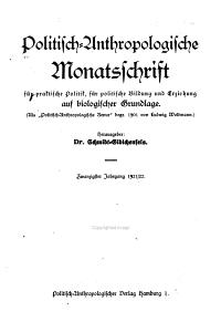 Politisch anthropologische Monatsschrift f  r praktische Politik PDF