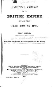 Statistical Abstract for the British Empire in Each Year from 1889 to 1903-[1899 to 1913]: Issues 1-4