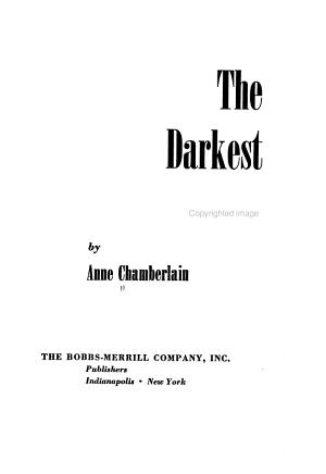 The Darkest Bough