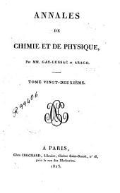 Annales de chimie et de physique: Volume22