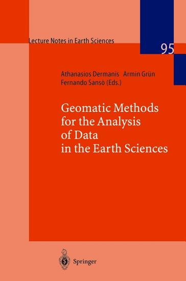Geomatic Methods for the Analysis of Data in the Earth Sciences PDF