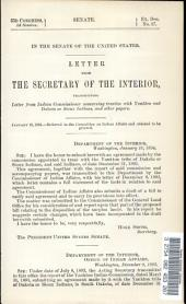 In the Senate of the United States: Letter from the Secretary of the Interior Transmitting Letter from Indian Commissioner Concerning Treaties with Yankton and Dakota Or Sioux Indians, and Other Papers