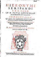 In D. Pauli Epistolas ad Romanos ... commentaria
