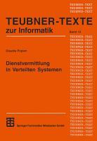 Dienstvermittlung in Verteilten Systemen PDF