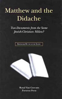 Matthew and the Didache PDF