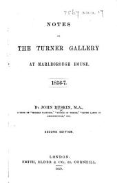 Notes on the Turner Gallery at Marlborough House ... Second edition