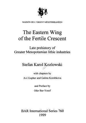 The Eastern Wing of the Fertile Crescent PDF