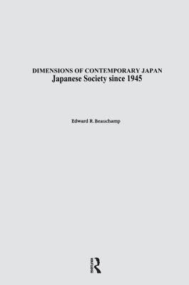 Japanese Society Since 1945 PDF