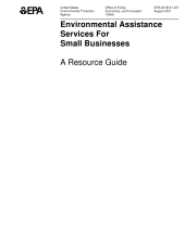 Environmental assistance services for small businesses a resource guide.