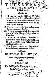 Thesaurus fructuum et interesse