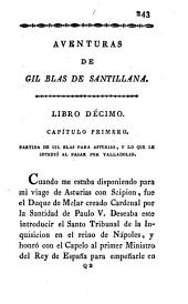 Aventuras de Gil Blas de Santillana: robadas á Espána, y adoptadas en Francia por Monsieur Le Sage