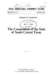 The Composition of the Soils of South Central Texas