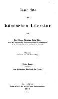 Geschichte der r  mischen Literatur PDF