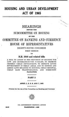 Housing and Urban Development Act of 1965 PDF