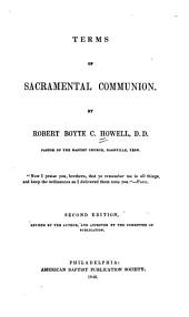 Terms of Sacramental Communion